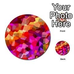 Geometric Fall Pattern Multi Purpose Cards (round)  by DanaeStudio