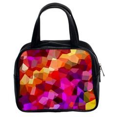 Geometric Fall Pattern Classic Handbags (2 Sides) by DanaeStudio