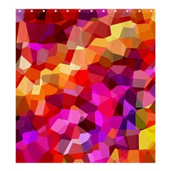 Geometric Fall Pattern Shower Curtain 66  X 72  (large)  by DanaeStudio