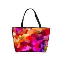 Geometric Fall Pattern Shoulder Handbags by DanaeStudio