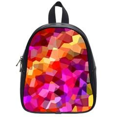 Geometric Fall Pattern School Bags (small)  by DanaeStudio