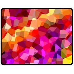 Geometric Fall Pattern Fleece Blanket (medium)  by DanaeStudio