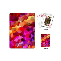 Geometric Fall Pattern Playing Cards (mini)  by DanaeStudio
