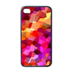 Geometric Fall Pattern Apple Iphone 4 Case (black) by DanaeStudio