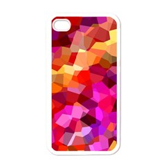 Geometric Fall Pattern Apple Iphone 4 Case (white) by DanaeStudio