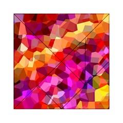 Geometric Fall Pattern Acrylic Tangram Puzzle (6  X 6 ) by DanaeStudio