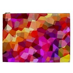 Geometric Fall Pattern Cosmetic Bag (xxl)  by DanaeStudio
