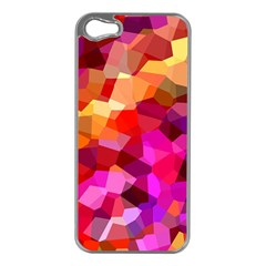 Geometric Fall Pattern Apple iPhone 5 Case (Silver)