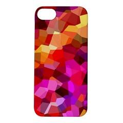 Geometric Fall Pattern Apple Iphone 5s/ Se Hardshell Case by DanaeStudio