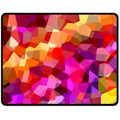 Geometric Fall Pattern Double Sided Fleece Blanket (medium)  by DanaeStudio