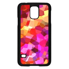 Geometric Fall Pattern Samsung Galaxy S5 Case (black) by DanaeStudio
