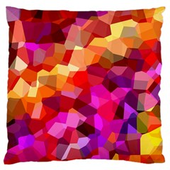 Geometric Fall Pattern Large Flano Cushion Case (one Side) by DanaeStudio