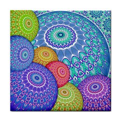 India Ornaments Mandala Balls Multicolored Tile Coasters by EDDArt