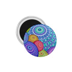India Ornaments Mandala Balls Multicolored 1 75  Magnets by EDDArt