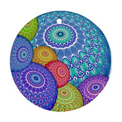 India Ornaments Mandala Balls Multicolored Ornament (round)  by EDDArt