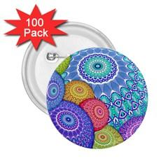 India Ornaments Mandala Balls Multicolored 2 25  Buttons (100 Pack)  by EDDArt