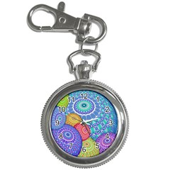 India Ornaments Mandala Balls Multicolored Key Chain Watches by EDDArt