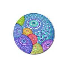 India Ornaments Mandala Balls Multicolored Magnet 3  (round) by EDDArt