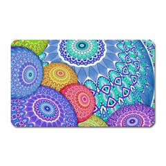 India Ornaments Mandala Balls Multicolored Magnet (rectangular) by EDDArt