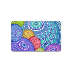 India Ornaments Mandala Balls Multicolored Magnet (name Card) by EDDArt