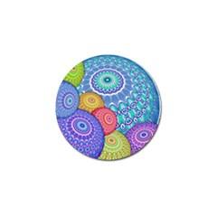 India Ornaments Mandala Balls Multicolored Golf Ball Marker (10 Pack) by EDDArt