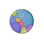 India Ornaments Mandala Balls Multicolored Hat Clip Ball Marker (10 pack)
