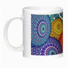 India Ornaments Mandala Balls Multicolored Night Luminous Mugs by EDDArt