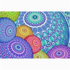 India Ornaments Mandala Balls Multicolored Collage Prints by EDDArt