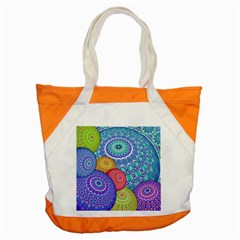 India Ornaments Mandala Balls Multicolored Accent Tote Bag by EDDArt