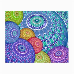 India Ornaments Mandala Balls Multicolored Small Glasses Cloth (2 Side) by EDDArt