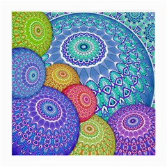 India Ornaments Mandala Balls Multicolored Medium Glasses Cloth (2 Side) by EDDArt