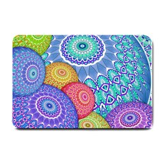 India Ornaments Mandala Balls Multicolored Small Doormat  by EDDArt