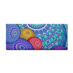 India Ornaments Mandala Balls Multicolored Hand Towel by EDDArt