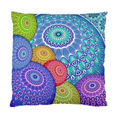 India Ornaments Mandala Balls Multicolored Standard Cushion Case (one Side) by EDDArt