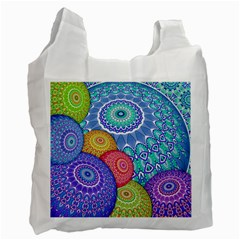 India Ornaments Mandala Balls Multicolored Recycle Bag (one Side) by EDDArt