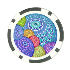 India Ornaments Mandala Balls Multicolored Poker Chip Card Guards (10 Pack)  by EDDArt