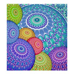 India Ornaments Mandala Balls Multicolored Shower Curtain 66  X 72  (large)  by EDDArt
