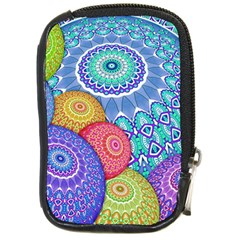 India Ornaments Mandala Balls Multicolored Compact Camera Cases by EDDArt