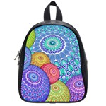 India Ornaments Mandala Balls Multicolored School Bags (Small)