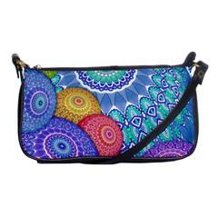 India Ornaments Mandala Balls Multicolored Shoulder Clutch Bags by EDDArt