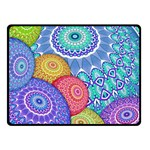 India Ornaments Mandala Balls Multicolored Fleece Blanket (Small)