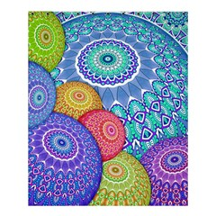 India Ornaments Mandala Balls Multicolored Shower Curtain 60  X 72  (medium)  by EDDArt