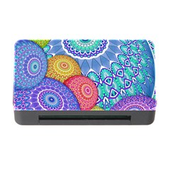 India Ornaments Mandala Balls Multicolored Memory Card Reader With Cf by EDDArt