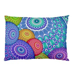 India Ornaments Mandala Balls Multicolored Pillow Case (two Sides) by EDDArt