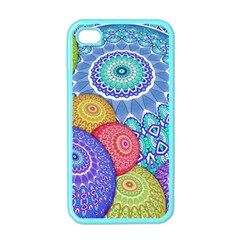 India Ornaments Mandala Balls Multicolored Apple Iphone 4 Case (color) by EDDArt