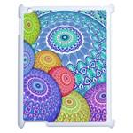 India Ornaments Mandala Balls Multicolored Apple iPad 2 Case (White)