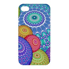 India Ornaments Mandala Balls Multicolored Apple Iphone 4/4s Premium Hardshell Case by EDDArt