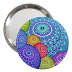 India Ornaments Mandala Balls Multicolored 3  Handbag Mirrors