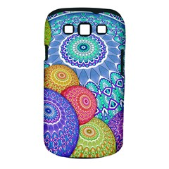 India Ornaments Mandala Balls Multicolored Samsung Galaxy S Iii Classic Hardshell Case (pc+silicone) by EDDArt