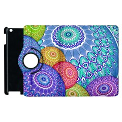 India Ornaments Mandala Balls Multicolored Apple Ipad 3/4 Flip 360 Case by EDDArt